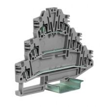 HLD.2/GR пружинный зажим трех-уровневый 2,5 кв.мм, серый
