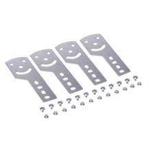 Пластина крепежная GSV H50 (4 шт.) в комплекте с метизами, необходимыми для монтажа, нержавеющее