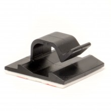 Клипса самоклеящаяся для кругл.кабеля,черная, 12.3х8х12