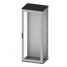 Сборный шкаф CQE, застеклённая дверь и задняя панель, 1600x600x400мм