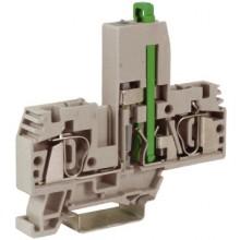 HMF.4/L48, держатель предохранителя, 4 кв.мм, серый с микросхемой LED 48 В