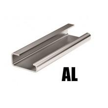 Дин-рейка алюминиевая, с насечкой G1, 32х15мм.