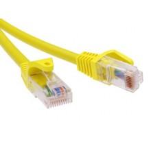 Патч-корд неэкранированный CAT5E U/UTP 4х2, LSZH, желтый, 0.5м