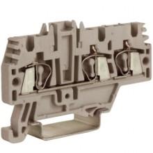 HMM.2/1+2GR, проходной зажим 2,5 кв.мм серый 1 ввод/2 вывода