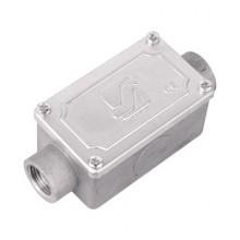 Коробка протяжная алюминиевая, 2 ввода 180°, М25х1,5 ,IP55, 118х51х42мм
