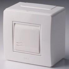Коробка в сборе с выключателем, коричневая (розница)