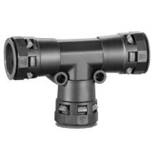 Тройник DN 36/36/36 мм, полиамид, цвет черный