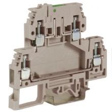 DSS4/GR, зажим с 2 уровнями, верхний разъединяемый 4 кв.мм серый
