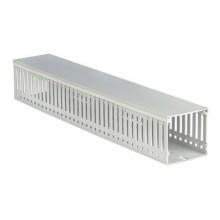 Короб перфорированный, без галогенов, светло-серый RLHF6 100x80