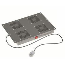 """Вентиляторный модуль 19"""", 4 вент. с термостатом RAL 9005"""