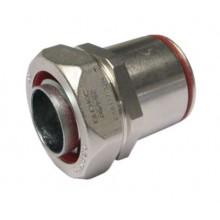 Муфта взрывозащищенная Ex e жесткая труба-металлорукав, DT 20мм, DN20, латунь никелированная, IP66/67