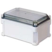 Корпус 600х400х160 IP67 стенки, прозрачная крышка (выс.крышки 35)